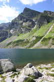 Mountain lake. A mountain lakes in Polish Tatra Mountains Royalty Free Stock Photos