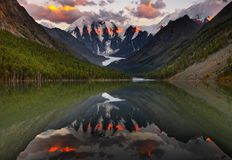 Mountain lake. Maashey lake in Altai mountains Stock Photo