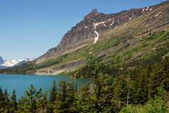 Mountain and lake Stock Image