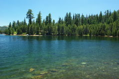 Mountain Lake. Clear blue Sierra lake in summertime Stock Photo