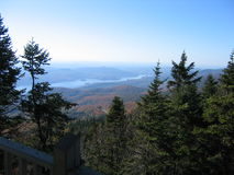Mountain lake. View from observation point Royalty Free Stock Photo