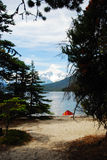Mountain lake. A mountain Lake in Canada British columbia stock photography