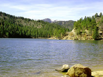 Mountain lake. In the Rocky Mountains in Ruidoso, NM stock image