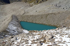 Mountain lake. Caucasus. Elbrus region. Gorge Adyr-Su. Mountain lake Royalty Free Stock Photos