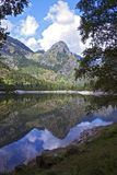 Mountain lake. In the Spring showing Reflections of mountains Stock Photography