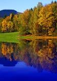 Mountain lake. Beautiful mountain reservoir Nyrsko - Czech Republic - Europe Stock Image