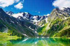 Mountain lake. Beautiful turquoise lake in Altai mountains Royalty Free Stock Image