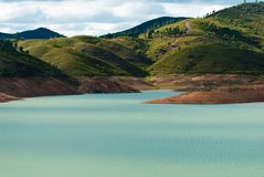 Mountain Lake. In the Silves region of Portugal Stock Image