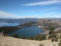 Mountain Lake above Lake Tahoe Royalty Free Stock Photos