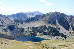 Mountain Lake. Aerial view of a mountain lake high in the Pirin mountains, Bulgaria Stock Photo