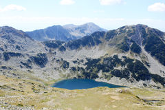 Mountain Lake. Aerial view of a mountain lake high in the Pirin mountains, Bulgaria Royalty Free Stock Photos