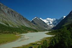 Mountain lake Ak-kem Royalty Free Stock Image