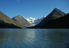 Mountain lake Ak-kem Stock Photos