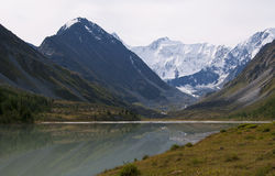 Mountain lake Ak-Kem Stock Image