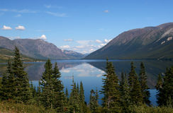 Mountain Lake on the Alaskan Highway Royalty Free Stock Photography