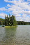 Mountain lake in Alberta, Canada Royalty Free Stock Images