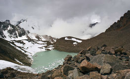 Mountain Lake. Almaty. Mountain Lake №6. Located near the city of Almaty, at an altitude of 3600 meters Royalty Free Stock Photo