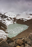 Mountain Lake. Almaty. Mountain Lake №6. Located near the city of Almaty, at an altitude of 3600 meters Stock Image