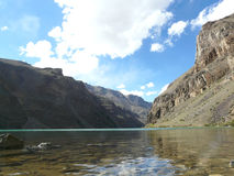 Mountain lake. Alpine lake in Gorno-Badakhshan in Tajikistan Stock Photo