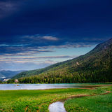 Mountain Lake in the Alpine mountains Italy Stock Photography