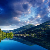 Mountain Lake in the Alpine mountains Italy Stock Images