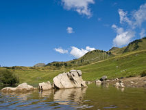 Mountain lake in Alps Stock Image