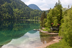 Mountain lake in the Alps, Austria Royalty Free Stock Photography