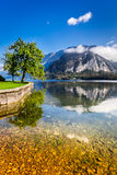 Mountain lake in Alps Stock Photos