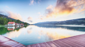 Mountain Lake at the Alps, Germany Stock Photography