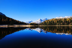 Mountain Lake in Alps Stock Photo