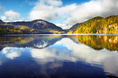 Mountain lake  Alpsee is a lake in the Ostallgäu district of Ba Royalty Free Stock Image