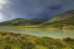 Mountain lake, Altai, Russia Stock Images