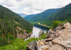 Mountain lake Amut in Khabarovsk territory Stock Photography