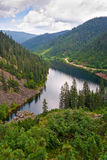 Mountain lake Amut in Khabarovsk territory Stock Photos