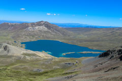 Mountain lake in Andes Royalty Free Stock Photography