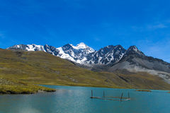 Mountain lake in Andes Stock Images