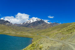 Mountain lake in Andes Stock Photo