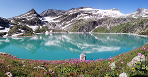 Mountain lake in apls, Austria. Mountain lake panorama in apls, Austria, National Park Hohe Tauern Royalty Free Stock Photo