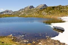 Mountain lake, Ariege, France. Mountain lake in Pyrenees at summer Stock Photos