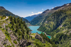 Mountain lake. In Austria Alps Stock Photo