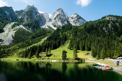 Mountain lake in Austrian Alps Stock Photography