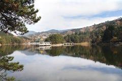 Mountain lake at autumn Stock Photo