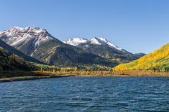 Mountain Lake in Autumn Stock Photography
