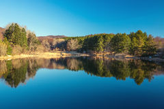 Mountain lake, autumn shot Royalty Free Stock Image