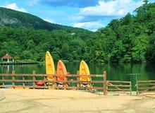 Mountain Lake Beach Stock Photography