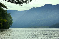 Mountain lake beautiful and remote beaches Royalty Free Stock Photography