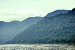 Mountain lake beautiful and remote beaches Royalty Free Stock Photos