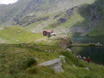 A mountain lake. A beautifull landscape from romanian mountains royalty free stock image