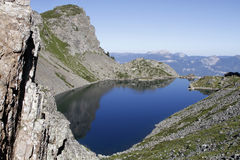 A mountain lake in Belledonne Royalty Free Stock Photo