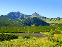 Mountain lake Biele pleso in National Park High Tatra. Royalty Free Stock Photo
